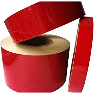 Hi Viz Intensity Grade Red Reflective Tape 50mm X 1M