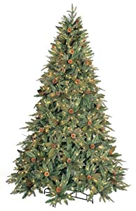#!Cheap GKI/Bethlehem Lighting 9-Foot PE/PVC Christmas Tree with Clear Mini Lights, Full Green River Spruce