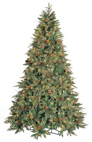 GKI Bethlehem Lighting Pre-Lit 7-1/2-Foot Genevieve Full Spruce Christmas Tree