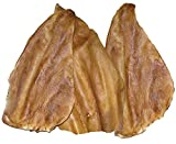 Mighty Mutz Smoked Cow Ear for Dogs, 6-Pack