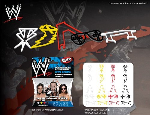 WWE Superstars Series 2 Logo Bandz Bracelets - 1
