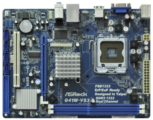 ASRock Core 2 Quad/Intel G41/DDR3/A & V & L/Micro ATX LGA 775 Motherboards G41M-VS3