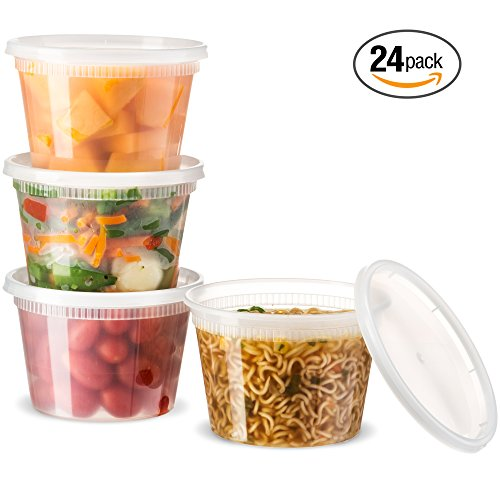 Basix Deli Food Storage Container With Lids 16 Ounce Pack Of 24 Deli Containers (Deli Food Container 16 compare prices)