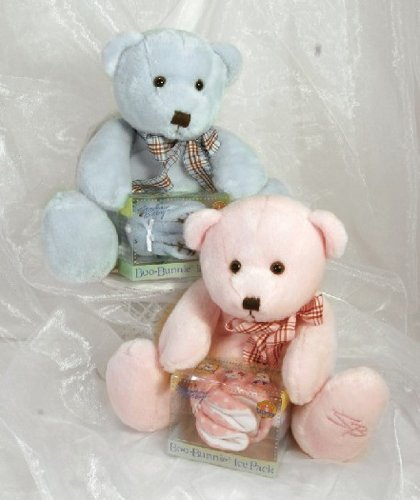 Stephan Baby Bear With Boo-Bunnie Ice Pack Gift-To-Go (Blue)