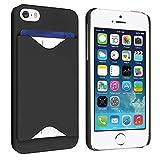 ID Business Credit Card Holder Hard Case Back Cover For Apple iPhone 5 Black