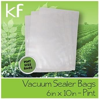 200 - 6x10 Vacuum Sealer Bags - Universal Embossed Channel Vacuum Bags by Keep Fresh