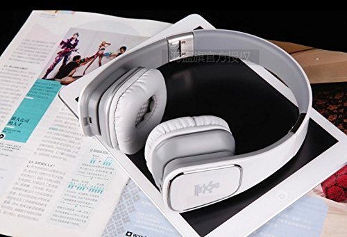Jullyroger M1 Bluetooth Headset 3.5Mm Stereo 40Mm Foldable With Microphone (White)