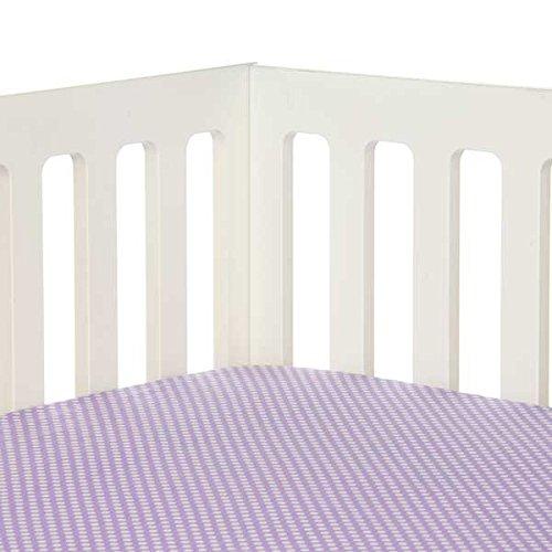 Sweet Potato Fiona Fitted Sheet Micro Dot, Purple/White - 1