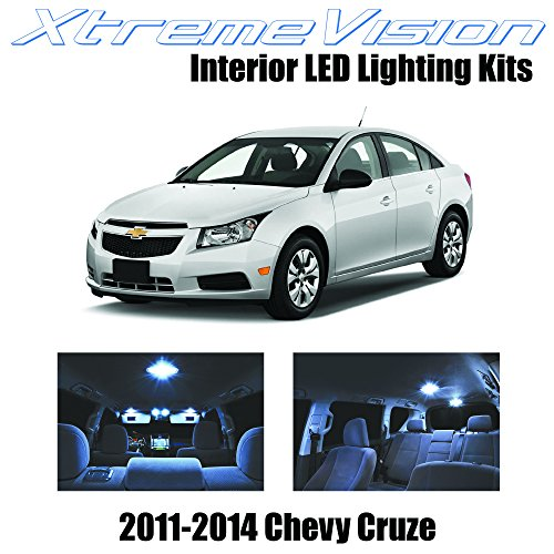 XtremeVision Chevy Cruze 2011-2014 (7 Pieces) Cool White Premium Interior LED Kit Package +Installation Tool (Chevy Cruze White compare prices)