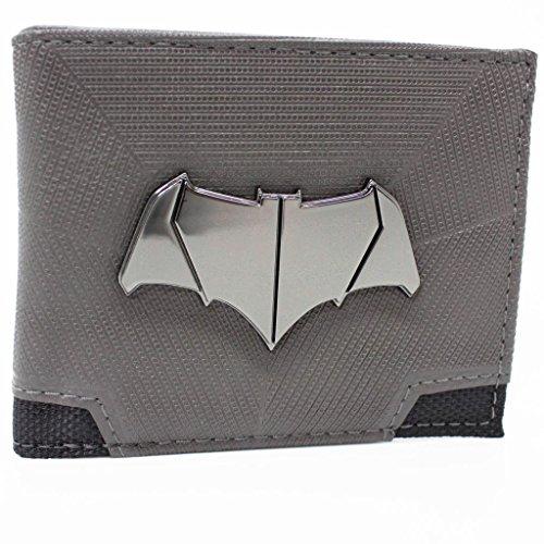 DC Comics Batman Superman Bat Emblem Grigio portafoglio