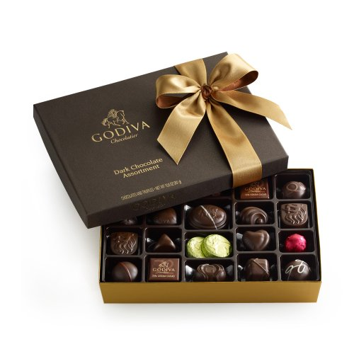GODIVA Chocolatier Dark Chocolate Gift Box 27