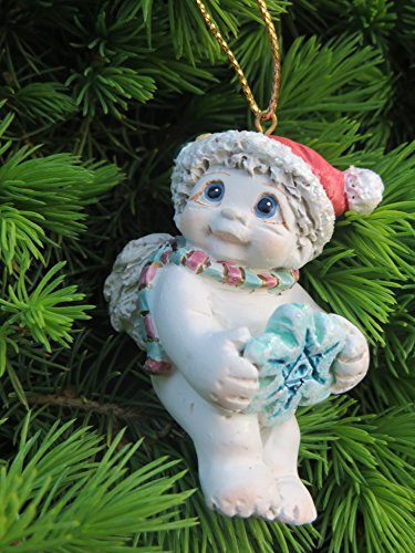 Dreamsicle Cherub with Snowflake