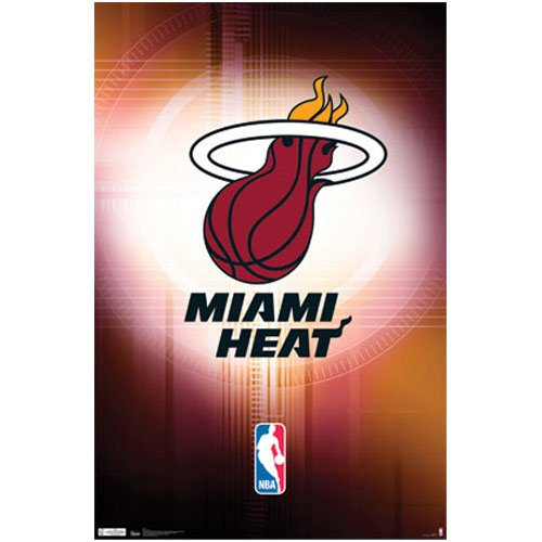 (22x34) Miami Heat Logo Sports