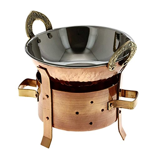 Serveware Accessories, Tabletop Tea Light Food Warmer and Karahi Serving Wok Set