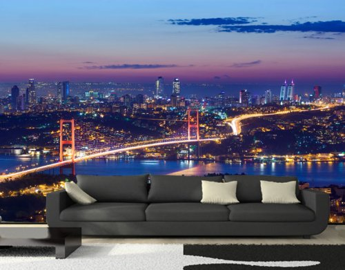 fototapete istanbul bei nacht tapete xxl wandbild. Black Bedroom Furniture Sets. Home Design Ideas