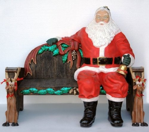 5' Santa Claus Sitting Down Figurine