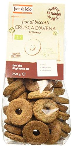 Fior di Loto Fior di Biscotti con Crusca di Avena - 250 gr