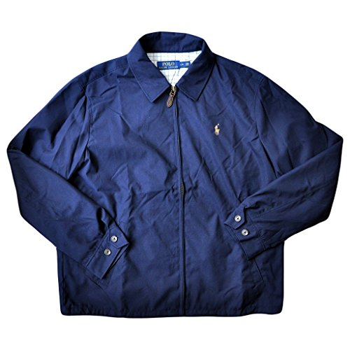 Polo Ralph Lauren Mens Bi-Swing Windbreaker Jacket (Aviator Navy , XX-Large)