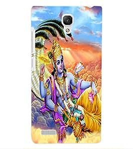 ColourCraft Lord Vishnu Design Back Case Cover for XIAOMI REDMI NOTE