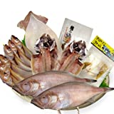 豪華海の幸・漁港ギフトセット 赤かれい・はたはた・あじ・するめいか・へしこ2種