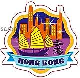 Amazon.co.jp海外旅行観光地ステッカー HONGKONG 香港 防水紙シール スーツケース・タブレットPC・スケボー・マイカーのドレスアップ・カスタマイズに