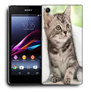 Snoogg Cute Kitty Printed Protective Phone Back Case Cover For Sony Xperia Z5