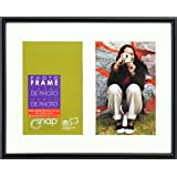 Snap Black Frame With Mat 8-Inch By 10-Inch Matted To 2 4-Inch By 6-Inch Opening