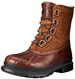 FRYE Men\'s Riley D Ring Lace Rain Boot, Espresso/Multi, 10 M US