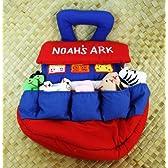 ハワイアンキルトグッズ おもちゃ『人形、動物の入ったおもちゃのノアの箱舟』/ハワイアン雑貨インテリア 知育おもちゃ