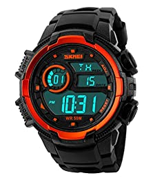 buy Skmei Outdoor Sports Ola-Sk1113B Multifunctional Waterproof Digital Watch Orange