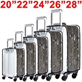 """BlueCosto® (Clear PVC) Travel Luggage Protector Suitcase Covers 20""""22""""24""""26""""28"""""""