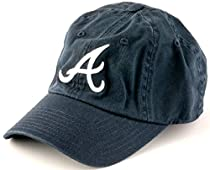 c0c30404c90 Atlanta Braves MLB Baseball Cap One Size American Needle Cotton Twill Navy
