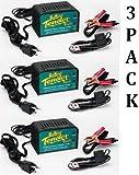 Deltran SuperSmart Battery Tender Plus 12-Volt 1.25 AMP Battery Charger (Pack of 3)
