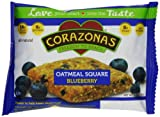 Corazonas Blueberry Oatmeal Squares, 1.76 Ounce Bars (Pack of 12)