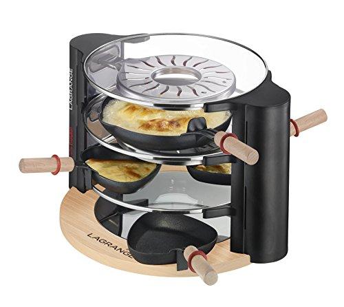 Team Kalorik Group LG RAC 149001 Design Glas Raclette für 8 Personen