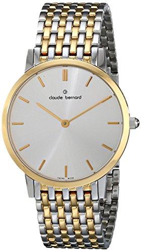 Claude Bernard Men's 20061 357JM AID Classic Gents - Slim Line Analog Display Swiss Quartz Two Tone Watch