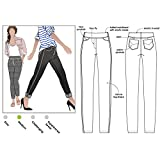 Style Arc Sewing Pattern - Georgie Stretch Woven Jean (Sizes 04-16) - Click for Other Sizes Available (Tamaño: Sizes 04-16)