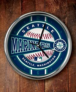 Seattle Mariners Chrome Wall Clock by The Memory Company