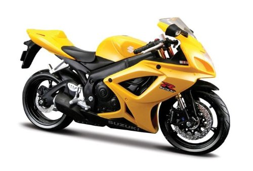 Suzuki GSX R 600 Yellow Motorcycle 1/12 by Maisto 31152