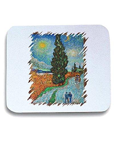 cotton-island-tappetino-mouse-pad-tda0099-van-gogh51-viale-di-cipressi-sotto-il-cielo-stellato-tagli
