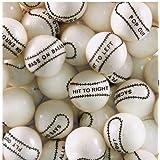 Dubble Bubble Baseball 24mm Gumballs 1 Inch, 2 Pounds Approximately 110 Gum Balls.