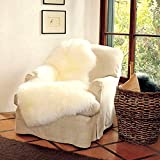WaySoft(TM) 100% Genuine Sheepskin Rug Single Pelt Natural 2+ft x 3.5ft