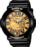Casio Ladies Baby-G Neon Illuminator – Gold Dial with Gloss Black Resin Strap