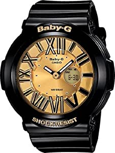 Baby-G Plastic Resin Case and Bracelet Gold Tone Digital-Analog Dial
