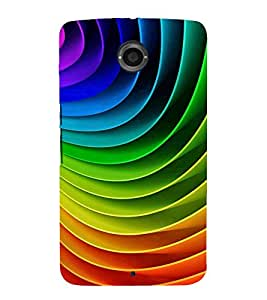 MULTICOLOURED CONCENTRIC OVERLAPPING SHEETS PATTERN 3D Hard Polycarbonate Designer Back Case Cover for Motorola Google Nexus 6 :: Google Nexus 6