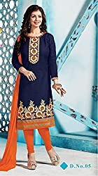 Leranath Fashion House Women'S Aesha Takiya Orange Color Dress