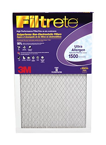 Filtrete Healthy Living Ultra Allergen Reduction Filter, MPR 1500, 14 x 30 x 1-Inches, 6-Pack (14x 14 Air Filter compare prices)