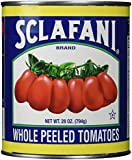 Sclafani Whole Peeled Tomatoes with Juice, 28 Ounce (Pack of 12)