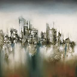 27.5W x 27.5H Urban Haze by J.P. Prior - Stretched Canvas w/ BRUSHSTROKES
