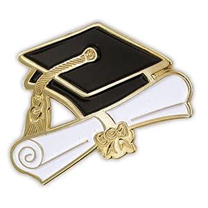 Graduation Cap and Diploma School Graduate Lapel Pin
